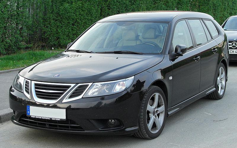A Saab 9-3 SportCombi II. The company stopped production last April.