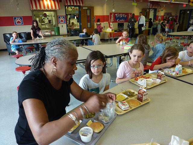 A new federal program being piloted this year provides free breakfasts and lunches to all students in poorer school districts.