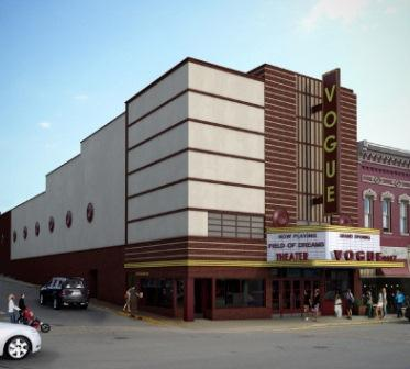 The long-shuttered Vogue Theatre was built in Manistee in 1938.