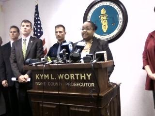 Kym Worthy announces charges in Romulus police corruption case