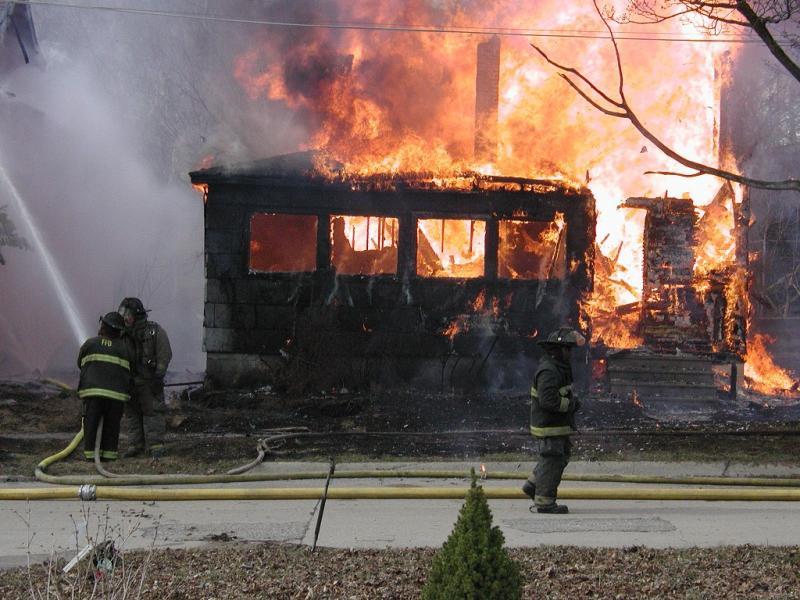 Flint firefighters at work