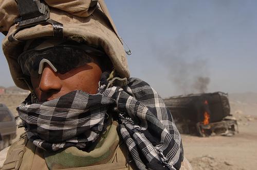 A U.S. marine in Afghanistan