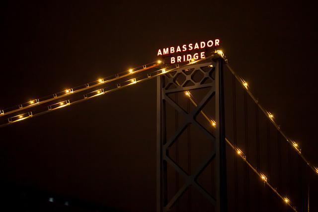 Owners of the Ambassador Bridge have been spending millions of dollars fighting a proposal to build a second international bridge downriver.