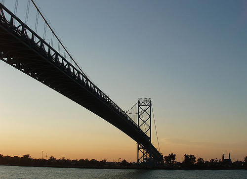 The Ambassador Bridge is currently the only bridge between Canada and Detroit.