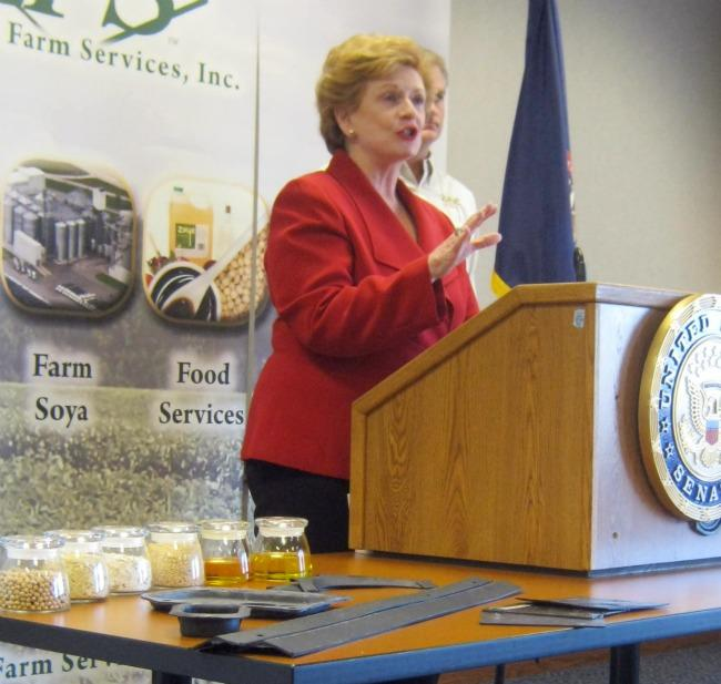 Senator Debbie Stabenow stopped at Zeeland Farm Services to announce her push for the tax break Monday. ZFS would get the incentive for their investments in bio-based manufacturing.