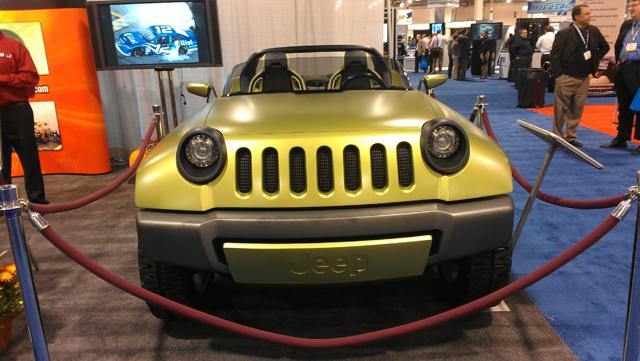 The Jeep Renegade concept vehicle. It's a diesel-electric hybrid.
