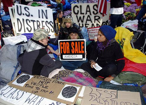 Protestors in New York City have occupied Zuccotti Park for 28 days.