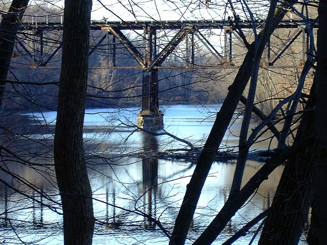 Railroad trestle in Grand Ledge, MI