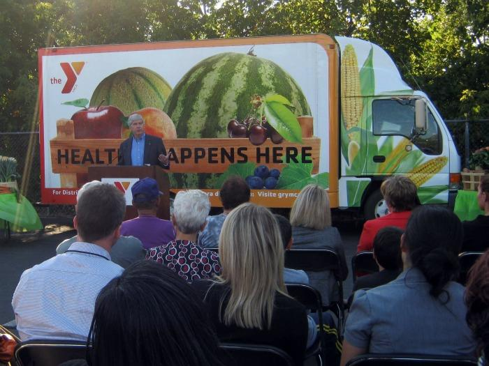 'To put it very simple sense - this is awesome' Governor Snyder said Wednesday about the launch of the Veggie Mobile in Grand Rapids.