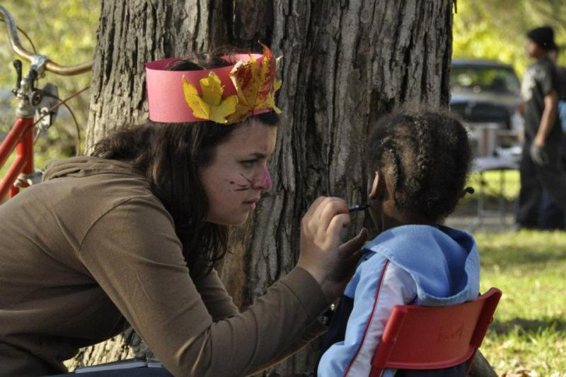 Face painting at this year's Harvest Festival