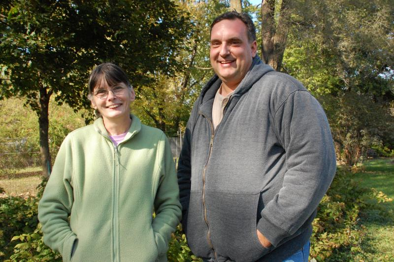 Paula Besheers and her son Paul Browne tried in vain to buy the empty lot right next door.