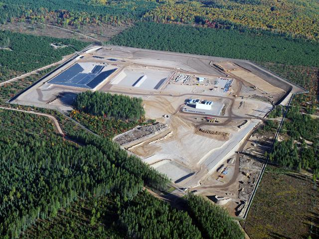 The Eagle Mine (aerial photo from October 2010).