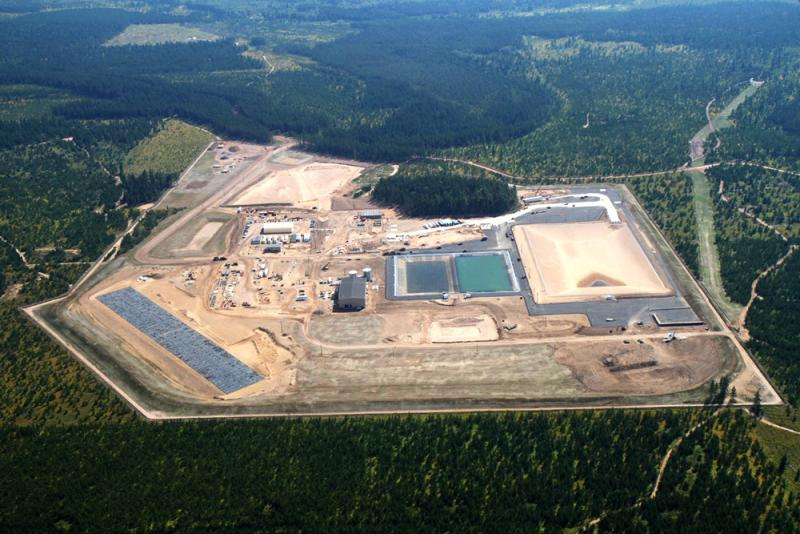 Eagle Mine, in an aerial photo taken in September of 2011. The mine is 25 miles northwest of Marquette, Michigan.