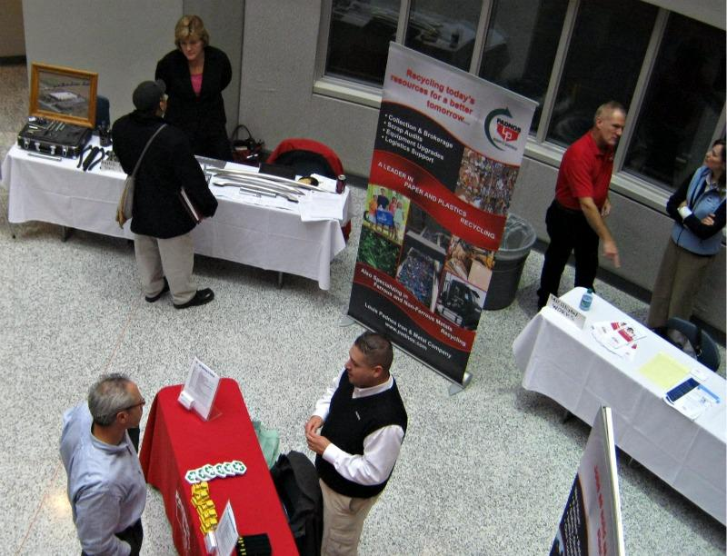 At least 35 companies looking to fill manufacturing positions were at a career fair at Grand Rapids Community College Monday.