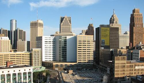 Detroit city skyline