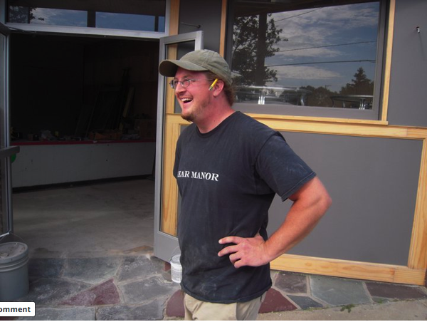 Barry Van Dyke outside what will soon be the Harmony Brewing Company