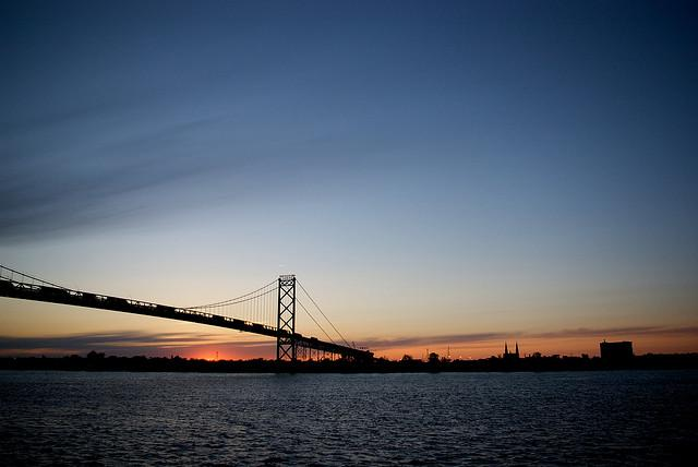 The Ambassador Bridge. The Michigan Department of Transportation and the owners of the bridge are having conflicts over new construction connecting the bridge to local roads and highways.