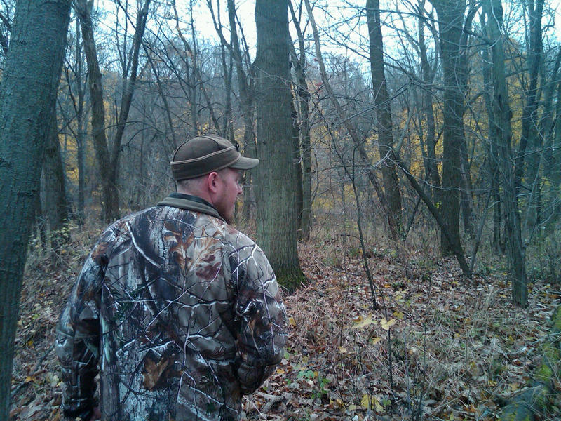 Hunter Gabe Van Wormer walks in the woods a few days before the start of firearms deer season.