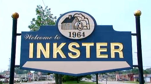 City of Inkster sign.
