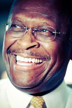 Republican presidential candidate Herman Cain