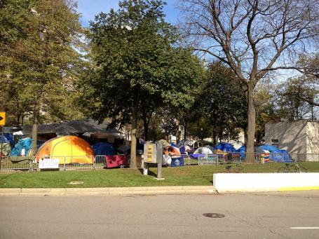 The Occupy Detroit encampment in Grand Circus Park was dismantled earlier this month