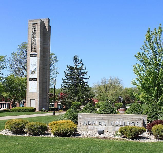 Herrick Tower, Adrian College, Adrian, Michigan.