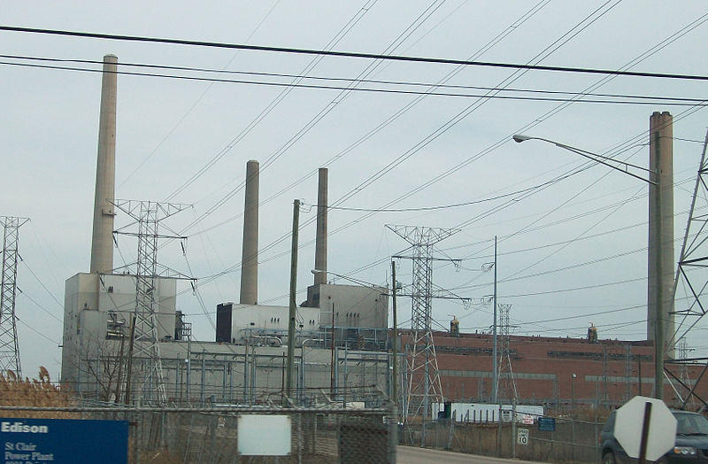 DTE's St. Clair Power Plant in East China, Michigan.