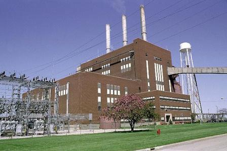 The J.R. Whiting Generating Complex, a coal plant in Erie, MI.
