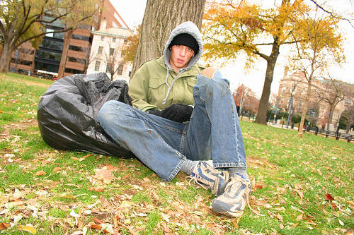 A young homeless person from NY