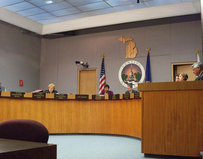 The Lansing city council holding one of its many formal sessions in 2011