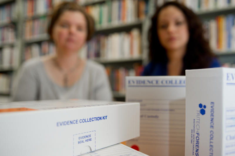 Rebecca Campbell, professor of psychology, and Giannina Fehler-Cabral, graduate research assistant, are looking into why more than 10,000 rape kits in Detroit went untested.