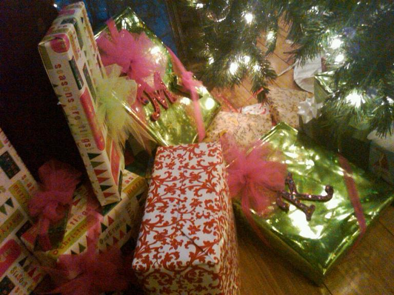 They looked so pretty under the tree.