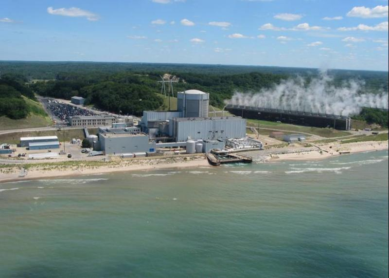 The Palisades Nuclear power plant in Van Buren County, Michigan.