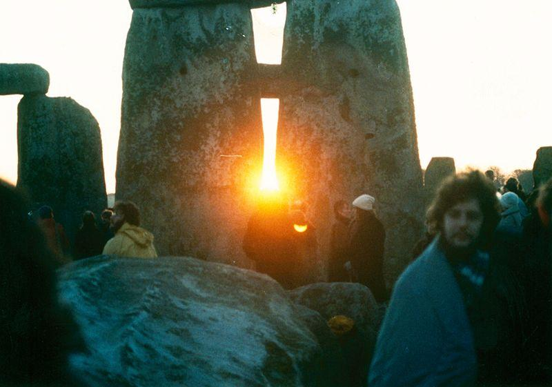 Checking out the sunset at Stonehenge circa 1985.