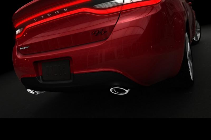 Rear of the 2013 Dodge Dart