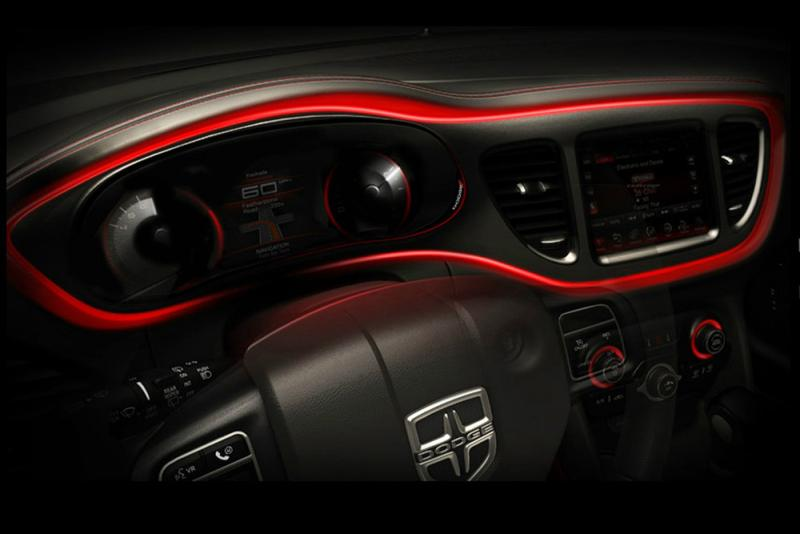 Interior PR photo of the 2013 Dodge Dart
