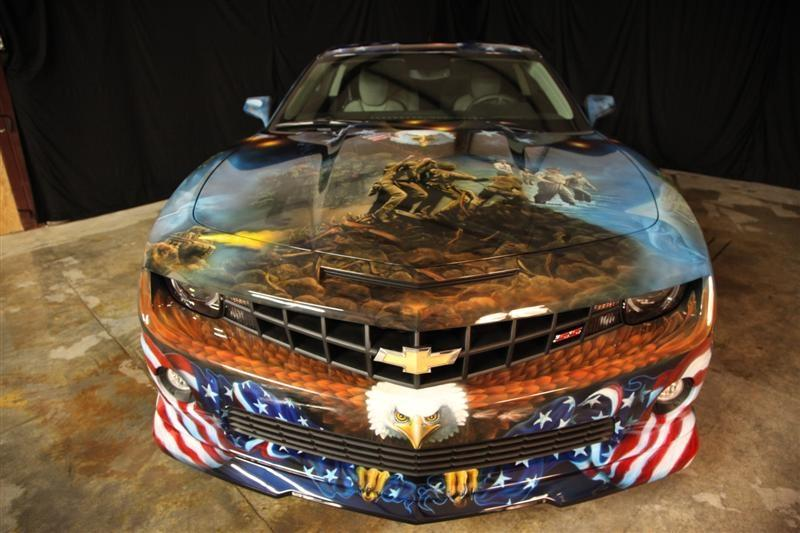 Military tribute version of Camaro