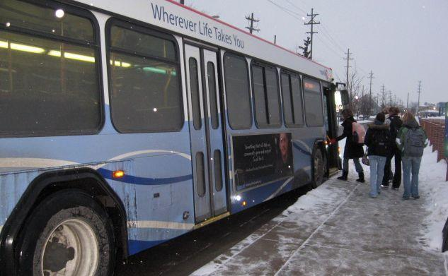 A Rapid bus in Grand Rapids.