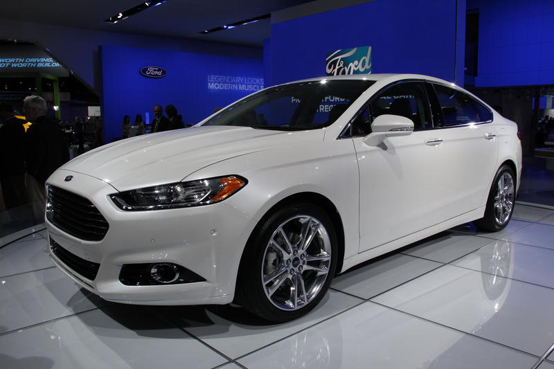 The 2013 Ford Fusion at the Detroit Auto Show.