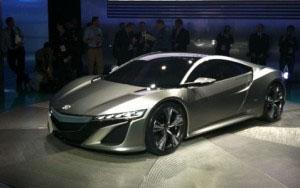 The concept Acura NS-X.