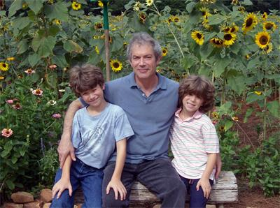 Andrew Reed with his sons William, 14, and David, 11.