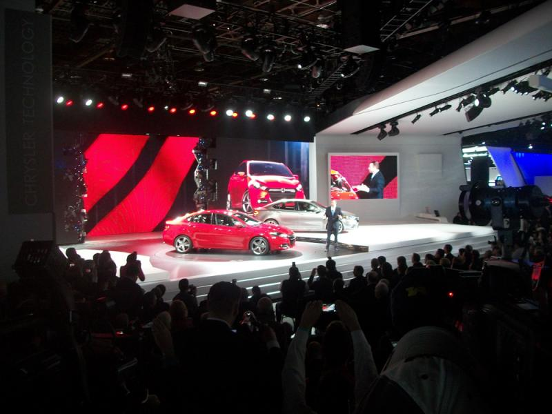 The unveiling of the new 2013 Dodge Dart at the North American International Auto Show in Detroit.