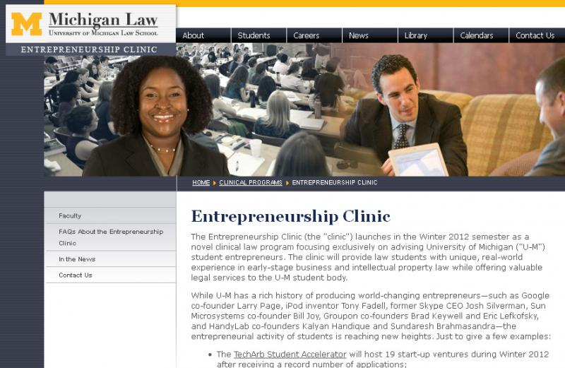U of M Law's Entrepreneurship Clinic will assist students with their business ventures.