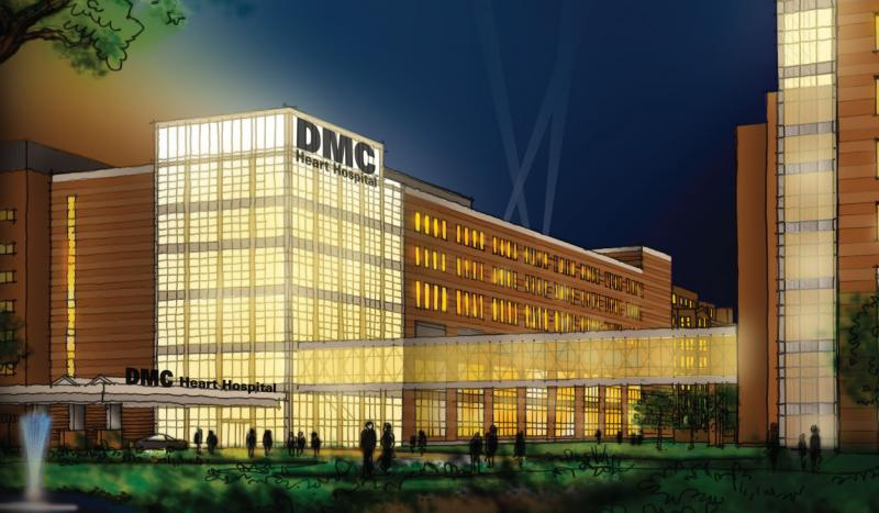 The new DMC Heart Hospital is scheduled to open in early 2014.