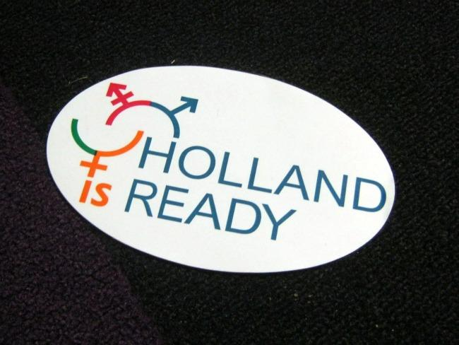 A Holland is Ready bumpsticker.