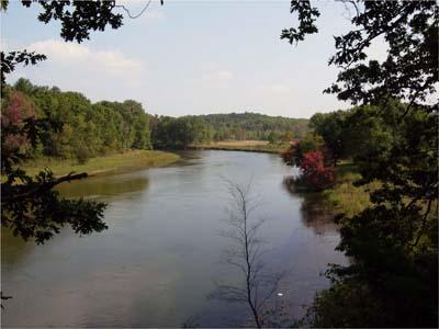 The Manistee River flowing through the Huron-Manistee National Forest.