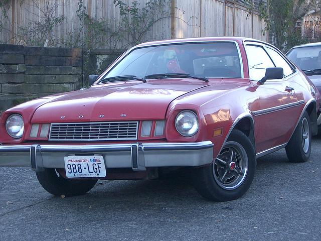 Reaching waaay back. This Pinto takes holding on to an old car to a whole new level.