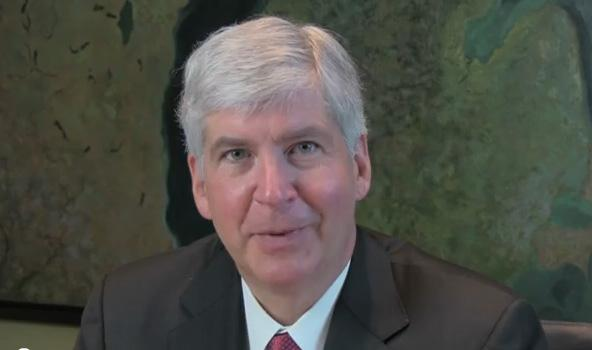 Michigan Governor Rick Snyder previewing tonight's State of the State speech on YouTube.