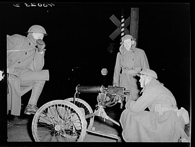 National Guard troops were called in following a confrontation between strikers and Flint police on Jan. 11, 1937