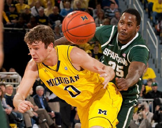 For only the fifth time in the rivalry's history, Michigan and Michigan State both entered last Tuesday night's contest ranked in the top 20.